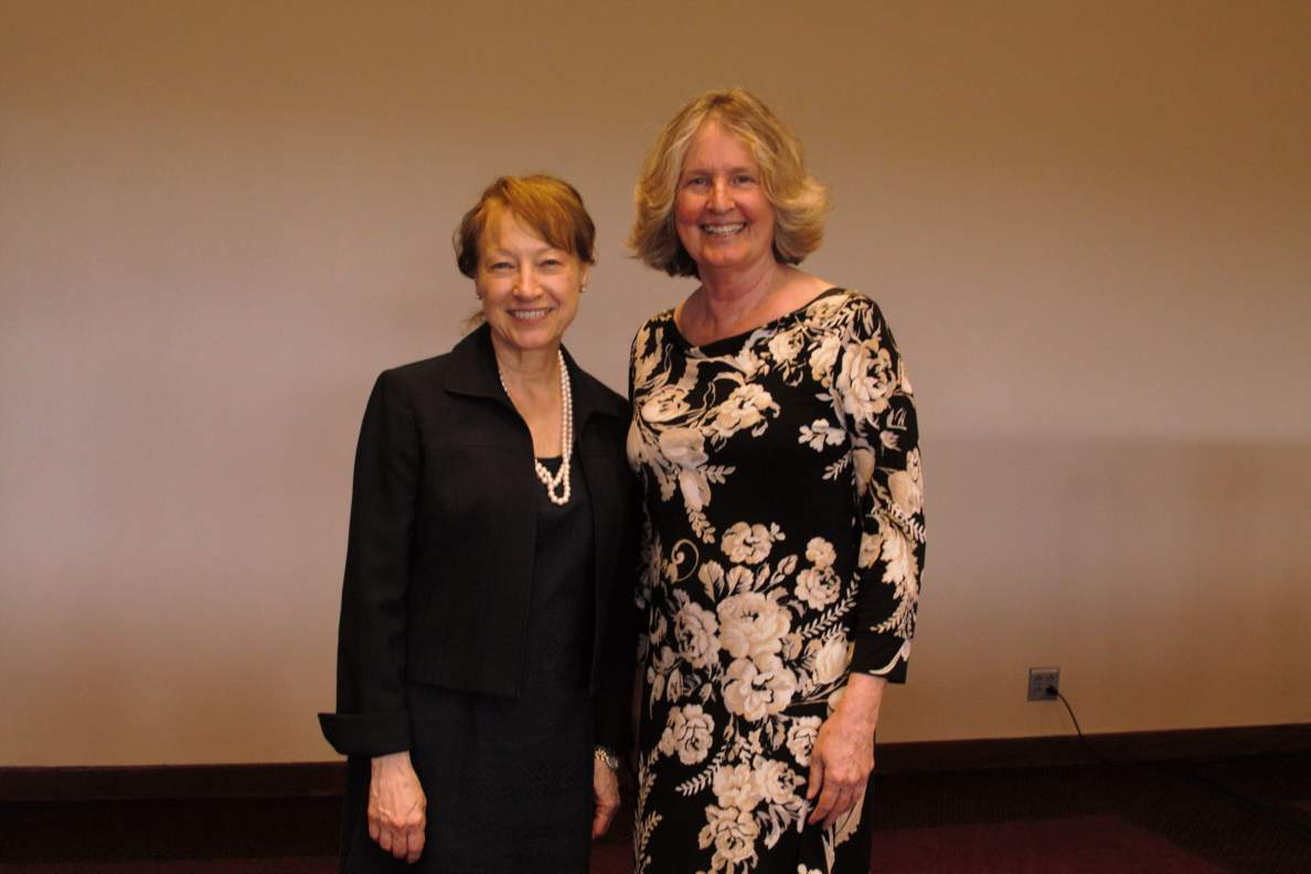 Dr. Brittain with President Denise Trauth